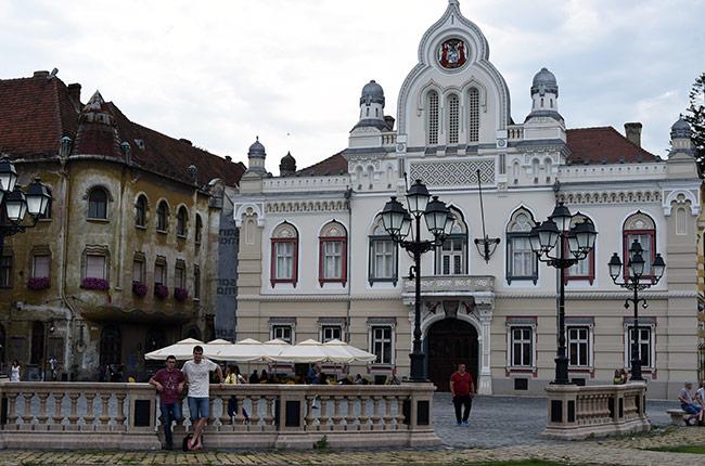 Biserica Sarbeasca en la Piata Unirii de Timisoara (Rumanía)