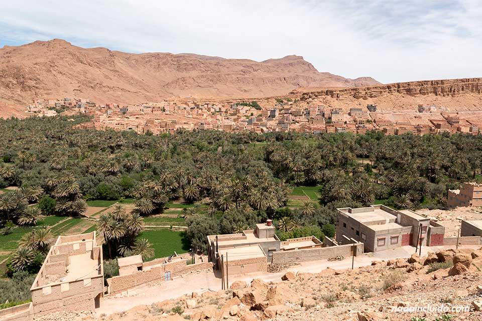 Vista de Tinerhir desde un mirador (Marruecos)