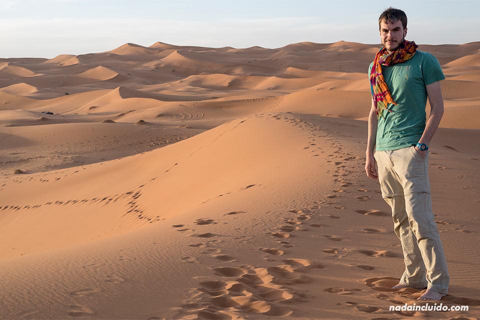 En el desierto del Sáhara (Marruecos)
