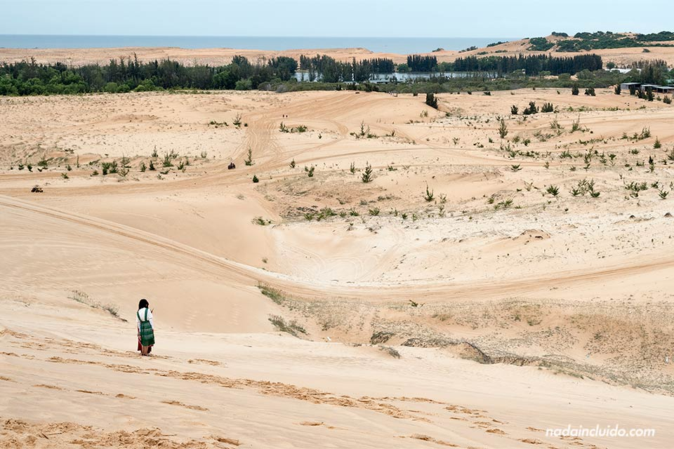 Vista de las White Sand Dunes de Mui Ne (Vietnam)