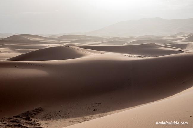 Desierto del Sáhara al amanecer (Marruecos)