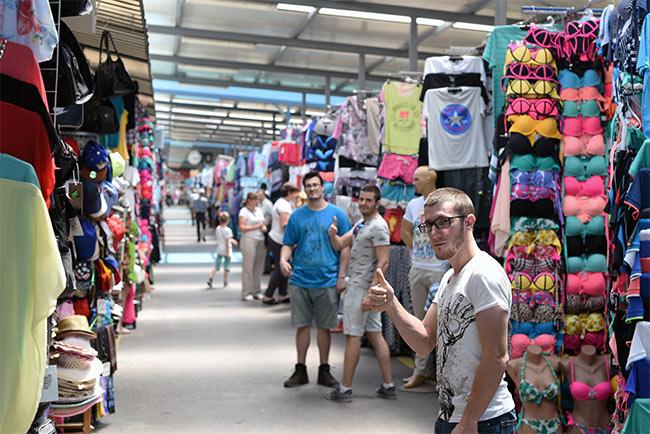 En el mercado de Banja Luka (Bosnia)