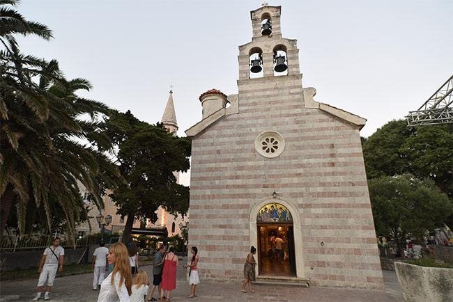Iglesia Crkva Svete Trojice en Budva (Montenegro)