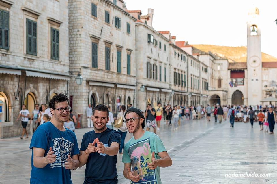 En el Stradun en Old Town de Dubrovnik (Croacia)