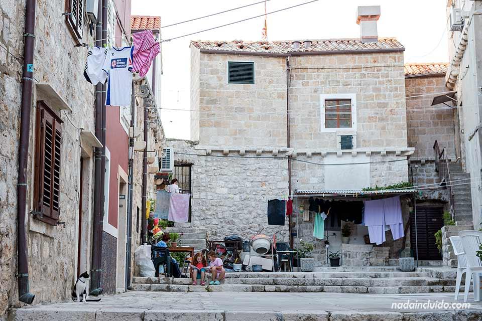 Vecindario en el Old Town de Dubrovnik