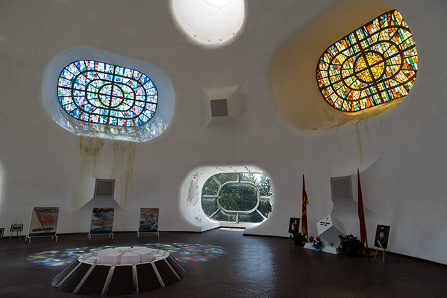 Interior del Makedonium (o Ilinden) en Krusevo (Macedonia)
