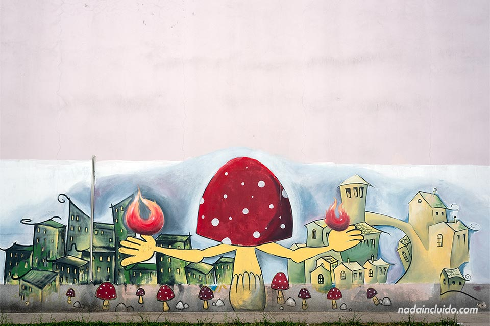 Grafiti en una pared de las calles de Mostar (Bosnia)
