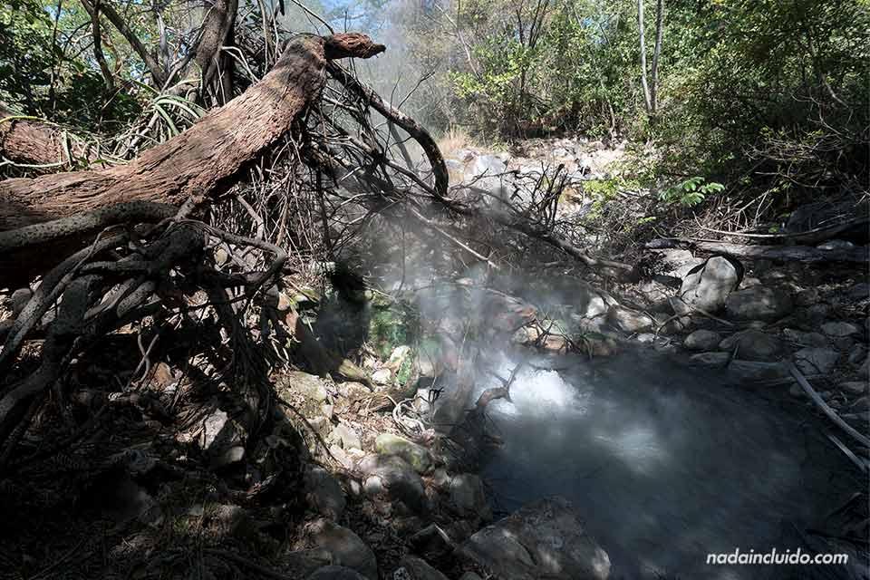 Fumarolas en el Parque Nacional del Volcán Rincón de la Vieja (Costa Rica)