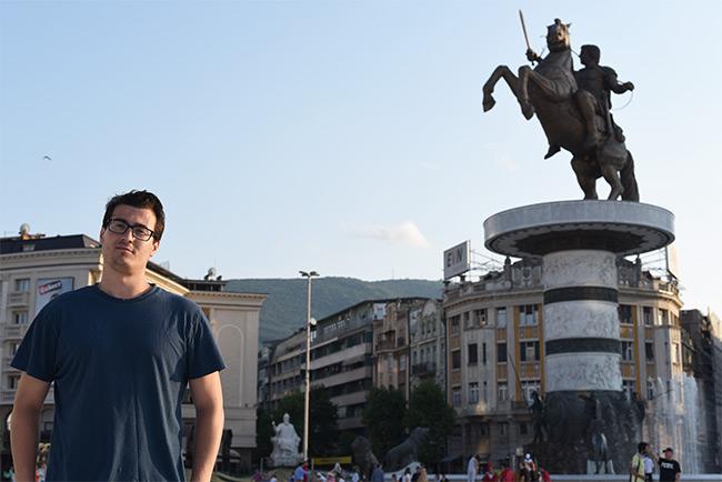 Estatua Alejandro Magno, Skopje