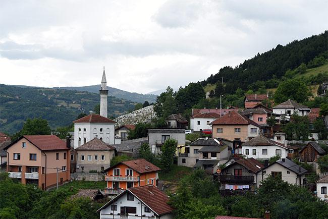 Vista de Travnik desde lo alto (Bosnia)
