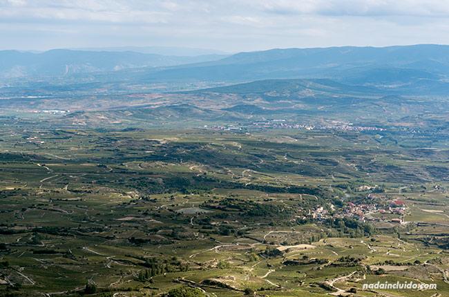 Vista de Rioja Alavesa desde el Balcón de la Rioja