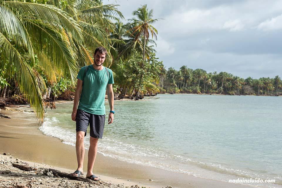 En la playa de Boca del Drago, en isla Colón (Bocas del Toro, Panamá)
