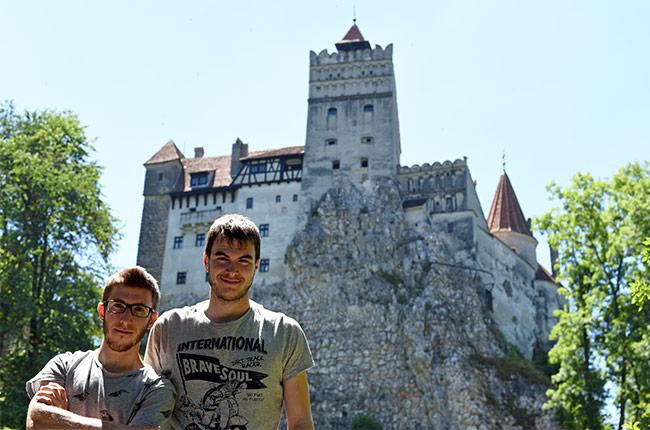Jardín del Castillo de Bran (Rumanía)
