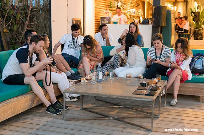 Blogueros en el club Saam de Chipiona (Cádiz)