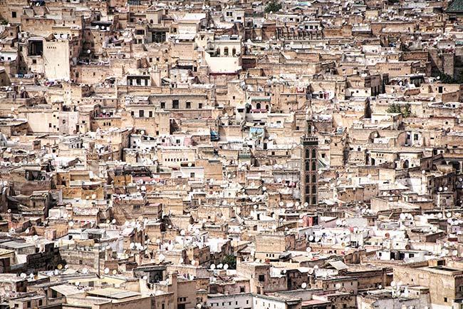 Vista de Fez desde lejos (Marruecos)