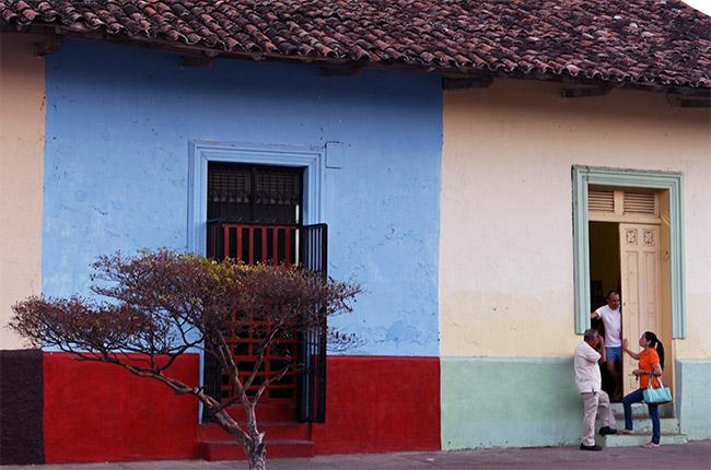 Casas de colores en la Calle de la Libertad de Granada (Nicaragua)
