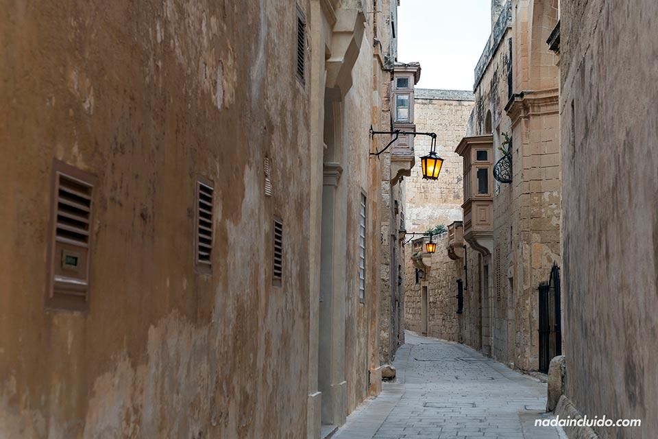 """Calles de Mdina, la """"ciudad del silencio"""" de Malta"""
