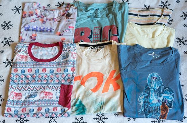 Camisetas que llevamos en el equipaje de nuestras mochilas