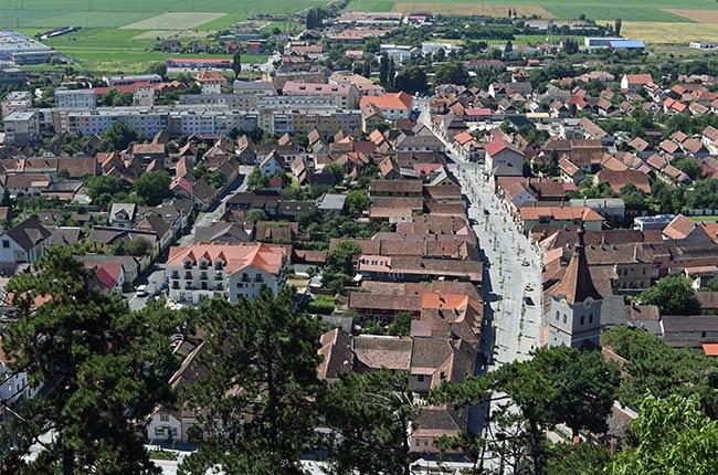 Vista desde Rasnov desde lo alto de la ciudadela (Rumanía)