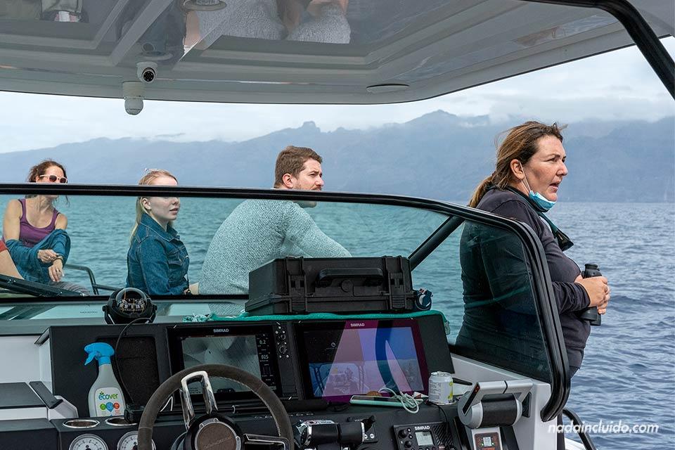 Practicando avistamiento de cetáceos sostenible en el sur de Tenerife