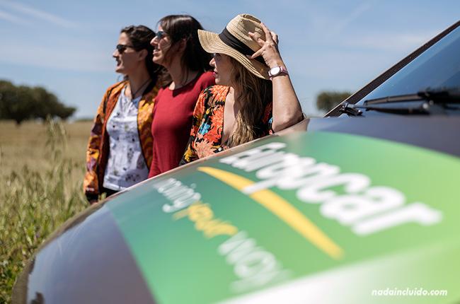 Furgoneta de Europcar en el Alentejo (Portugal)