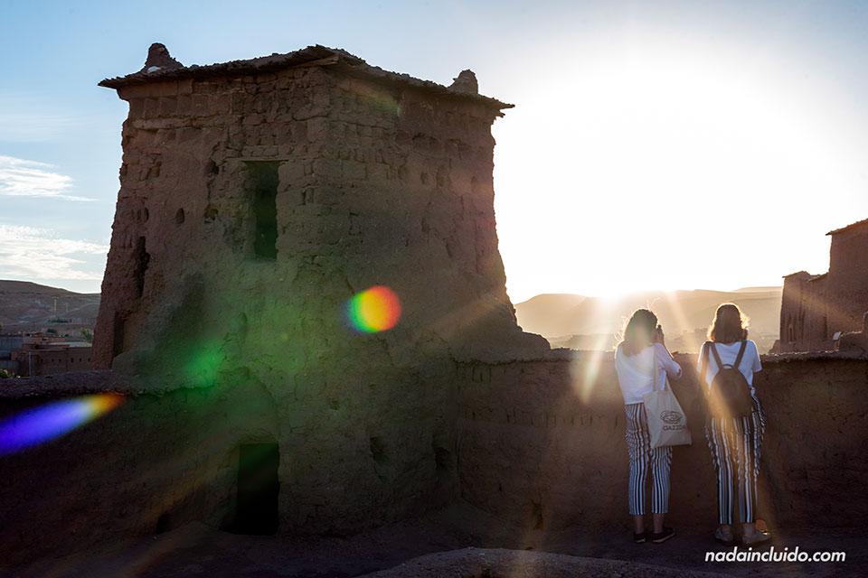 Torre de vigilancia en el ksar de Ait Ben Haddou (Marruecos)