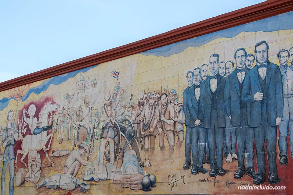 Mural en el parque Juan Santamaría, Alajuela (Costa Rica)