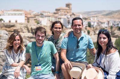 Viendo Alhama de Granada desde el camino de los Ángeles