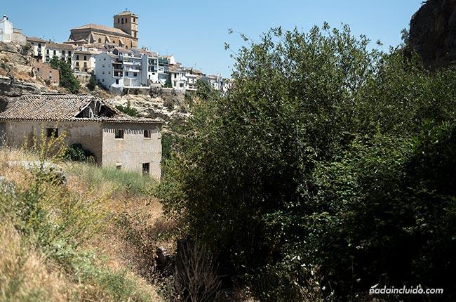Vista de Alhama de Granada desde el camino de los Ángeles