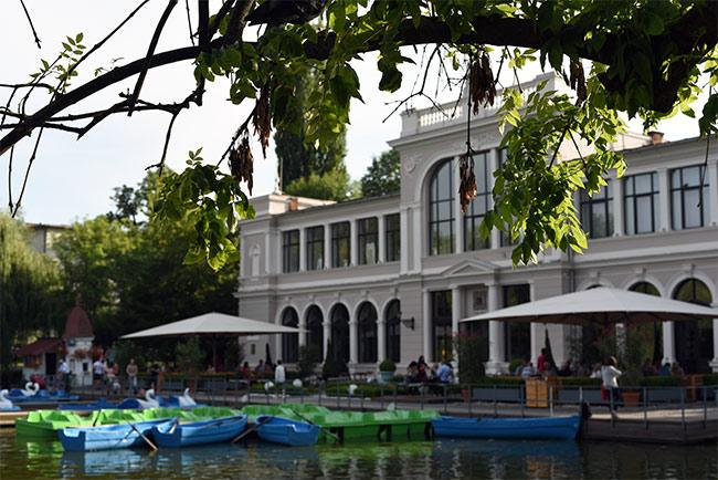 Lago en el Parcul Central de Cluj-Napoca (Rumanía)