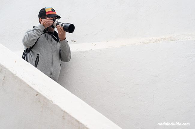 Haciendo una foto en Estremoz (Alentejo, Portugal)
