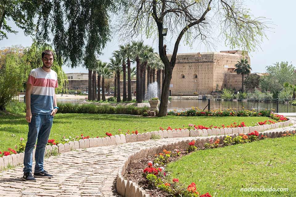 En el Jardín Jnan Sbil de Fez (Marruecos)