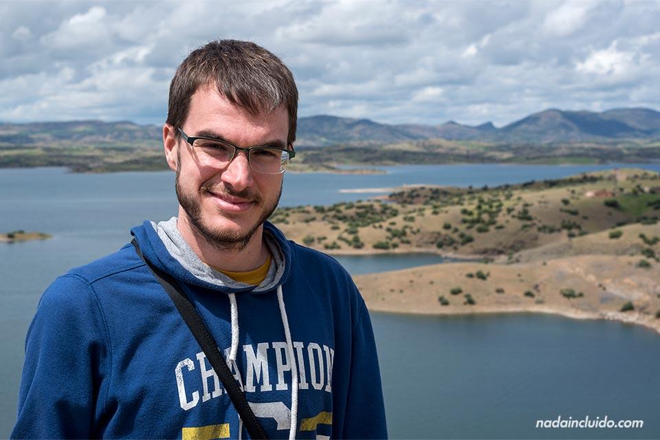 En el embalse Barrage El-Hansali (Marruecos)