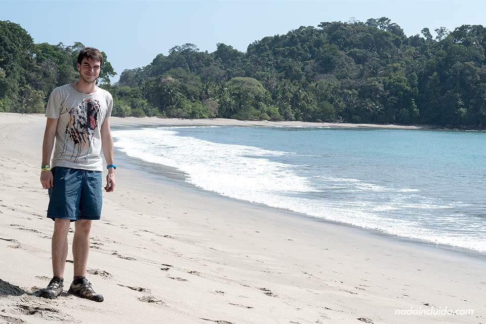 En la playa de Manuel Antonio (Costa Rica)