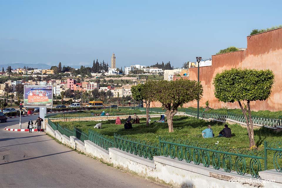 Jardín Bab Tizimi en Meknes (Marruecos)