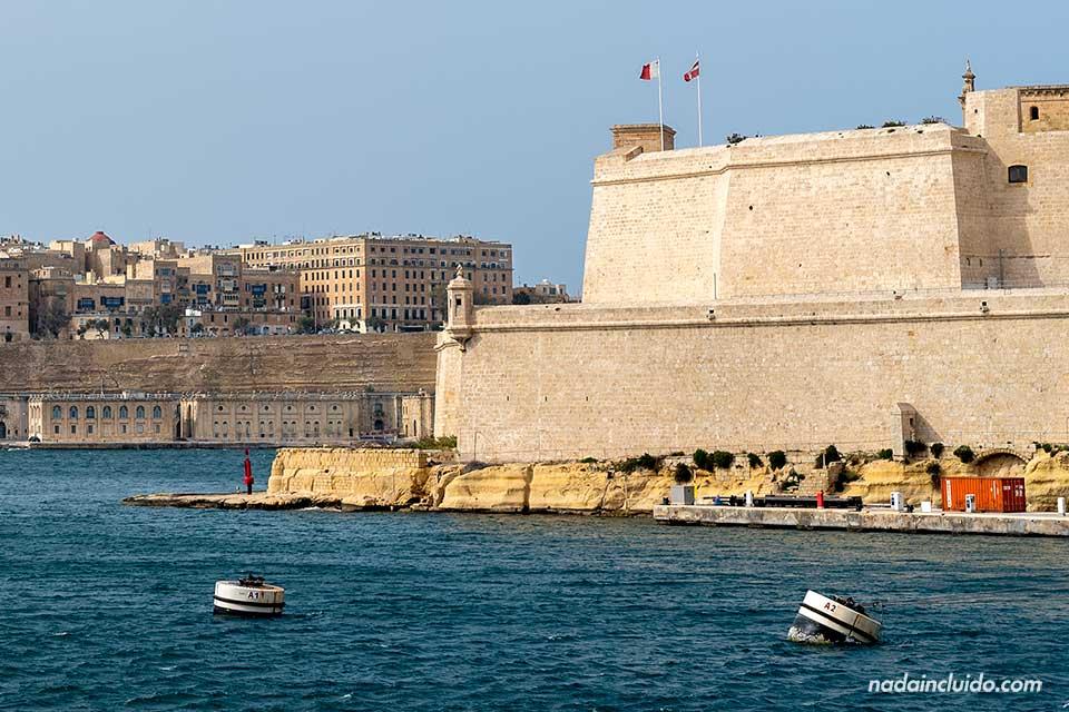 Fuerte de San Ángel en Birgu, una de las Three Cities de Malta