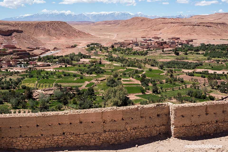 Vistas desde el Kasbah de Ait Ben Haddou (Marruecos)