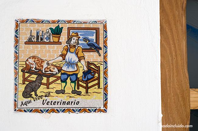 Cartel de veterinario en Castril (Granada, Andalucía)