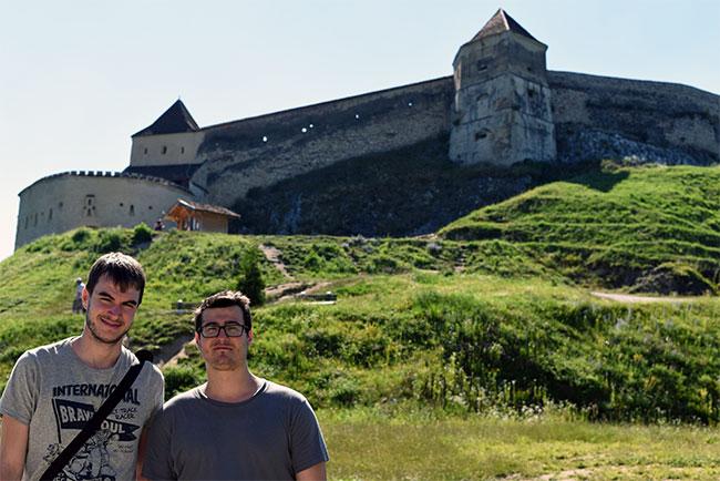 En la Ciudadela de Rasnov (Rumanía)