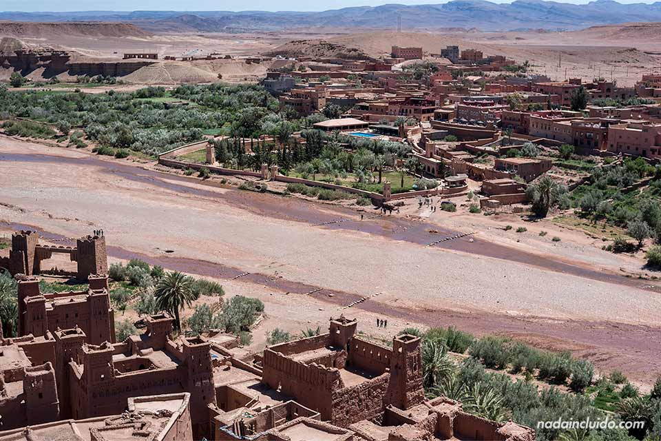 Ait Ben Haddou visto desde el Kasbah (Marruecos)