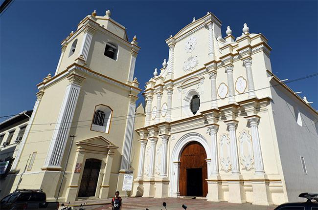 Fachada de La Iglesia las Mercedes en León (Nicaragua)
