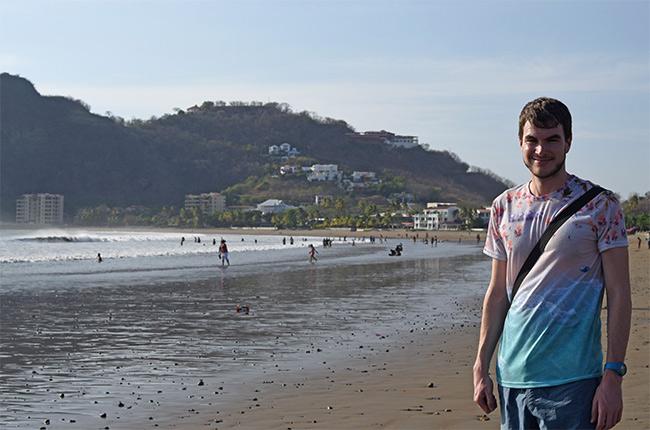 En la Playa de San Juan del Sur (Nicaragua)