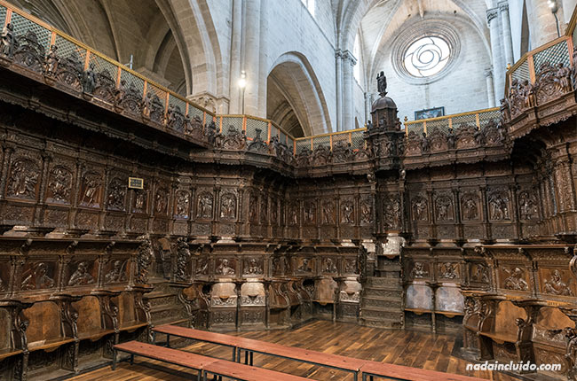 Coro de la catedral de Santo Domingo de la Calzada (Rioja, España)