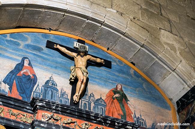 Mural en una de las criptas de la catedral de Santo Domingo de la Calzada (Rioja, España)