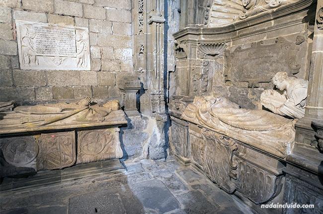 Cripta en la catedral de Santo Domingo de la Calzada (Rioja, España)
