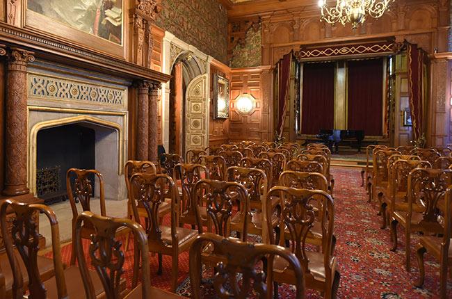 Sala de conciertos en el Castillo de Peles (Rumanía)