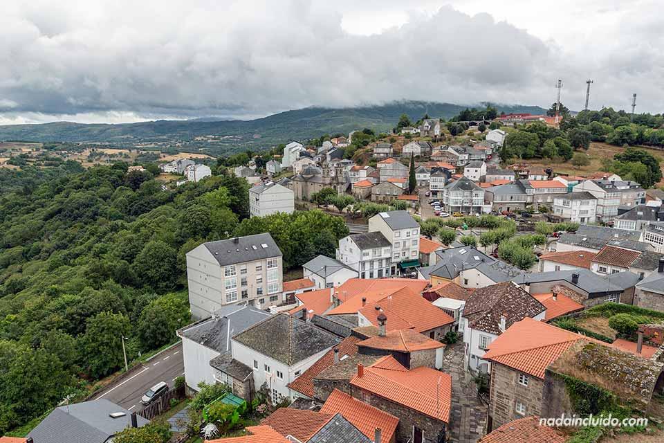 Vistas desde el castillo de Castro Caldelas, Ribeira Sacra (Galicia)