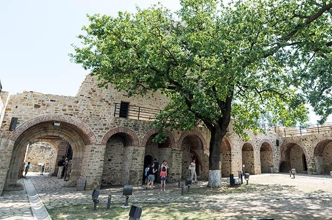 Interior de la Cetatea de Scaun, Suceava (Rumanía)