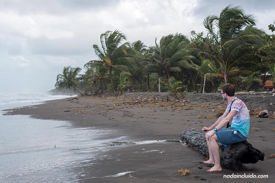 En la playa de Tortuguero (Costa Rica)