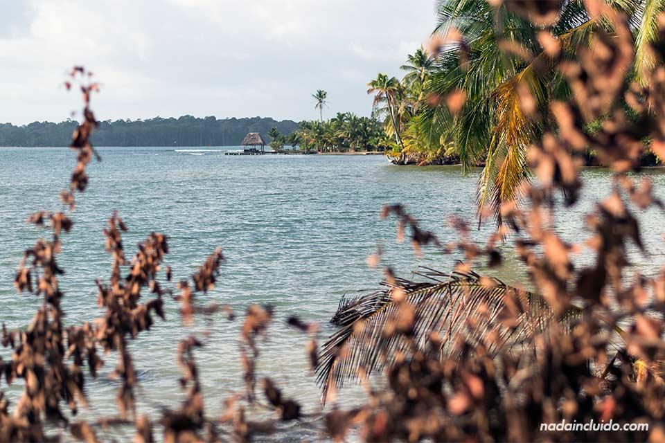 Vista de Boca del Drago desde lo lejos, Bocas del Toro (Panamá)